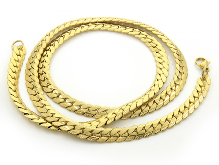 Photo pour Jewelry Gold Chain. Stainless steel. One color background - image libre de droit