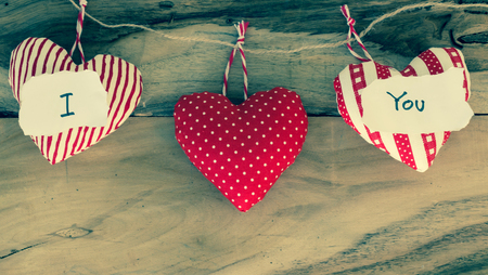 heart gift with message I love You