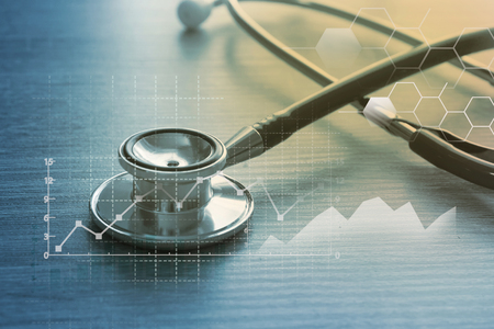 Photo for Medical marketing and Healthcare business analysis report - Royalty Free Image