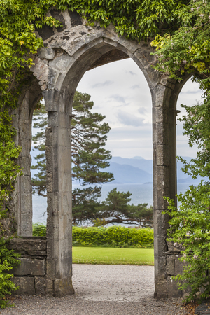 Armadale Castle arch on the Isle of Skye.