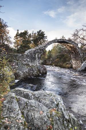 Old packhorse bridge at Carr-bridge in Scotland.
