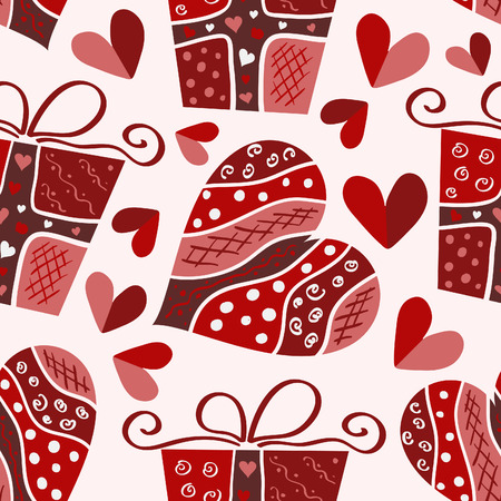 Illustration for valentine seamless pattern - Royalty Free Image