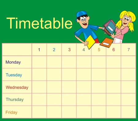 Timetable - students