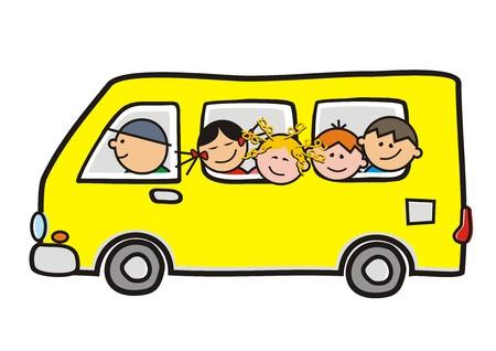 Illustration pour school bus - image libre de droit