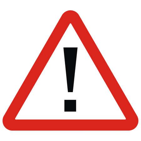 Illustration pour danger signal on a white background, red triangle shape, vector icon - image libre de droit
