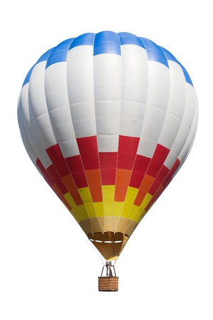 Hot air balloon isolated on white backdround.