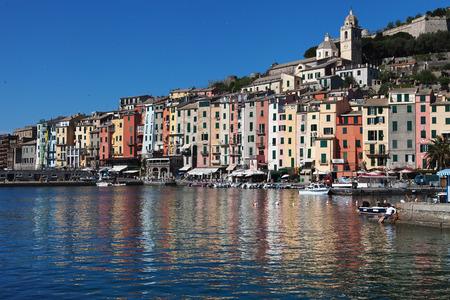 Seaside of Porto Venere city Liguria Italy.