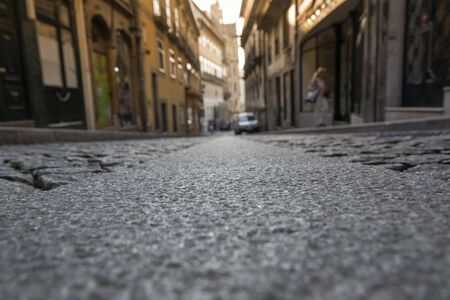 Foto de Porto city street in morning light. - Imagen libre de derechos