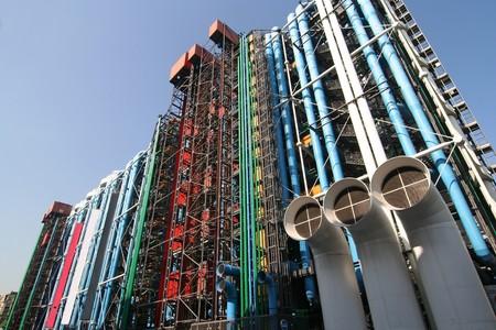 The Pompidou cultural center in Paris