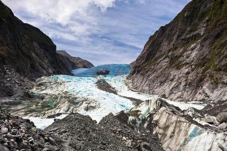 Scenic landscape at Franz Josef Glacier. Southern Alps, West Coast, South Island, New Zealand.