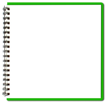 Photo pour green sketch book - image libre de droit