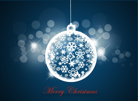 Christmas background with christmas ball.