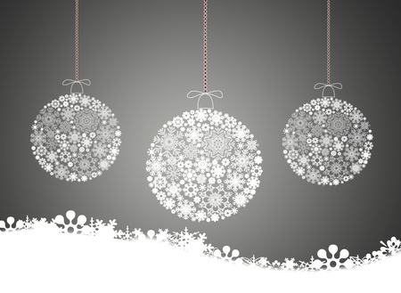 Merry christmas background with Christmas balls.
