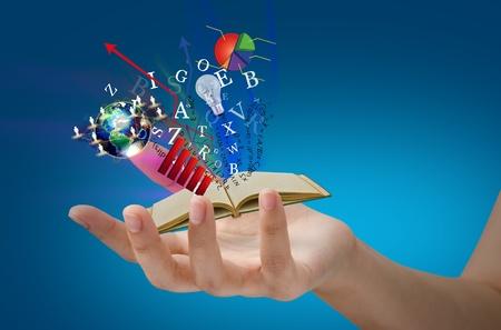Magic book on hand