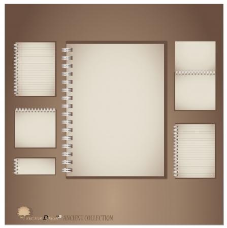 Vintage notebook designs.