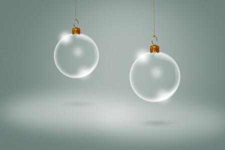 Transparent Christmas ball
