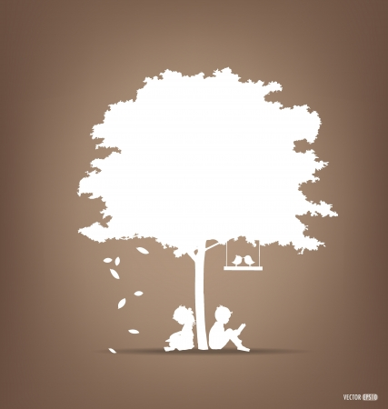 Illustration for Vector Decorative Wall Stickers For House Interiors.  - Royalty Free Image