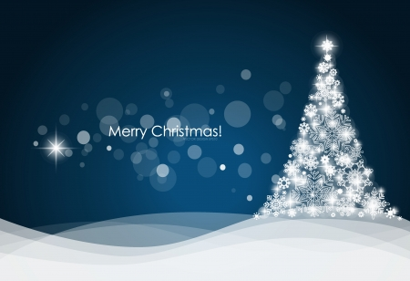 Christmas background with Christmas tree, vector illustration.のイラスト素材