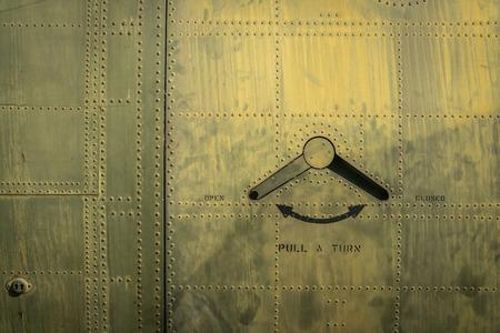 Door of military plane