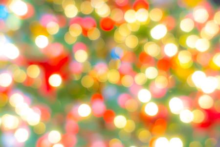 Abstract blur Lights of Christmas Tree