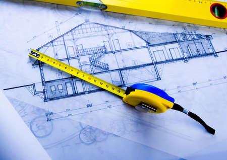 Photo pour House plan blueprints - image libre de droit