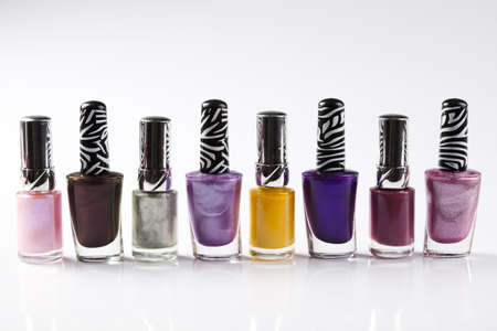 Cosmetic, nail polish, white background, isolated object