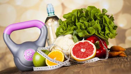 Photo pour Healthy lifestyle concept, vitamins composition - image libre de droit