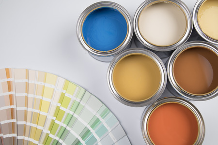 Foto per Colorful paint can, Creativity concept - Immagine Royalty Free