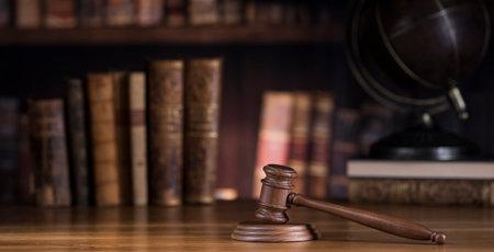 Photo pour Mallet, Law, legal code and scales of justice concept - image libre de droit