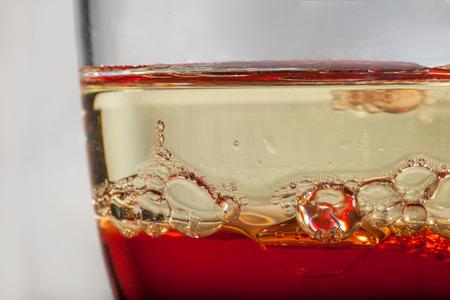 Heterogeneous liquids in a glass