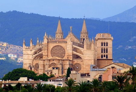 Cathetral La Seu in Palma de Majorca