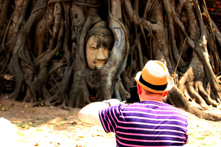 Beautiful Ayutthaya temples in Thailand.