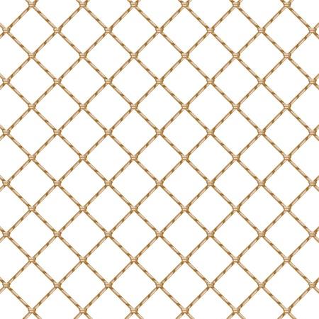 Ilustración de Rope net isolated over white   - Imagen libre de derechos