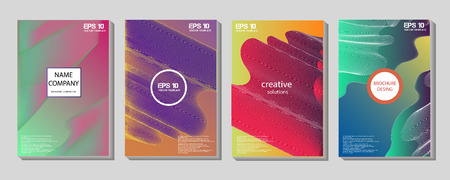 Illustration for Liquid color shapes for composition backgrounds. Trendy abstract covers. Futuristic design posters. - Royalty Free Image