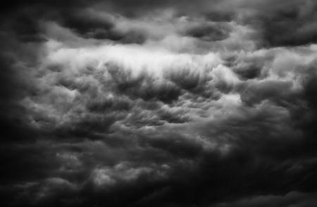 Dark clouds on the sky