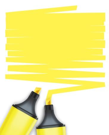 Photo pour highlighter pen with text box - image libre de droit