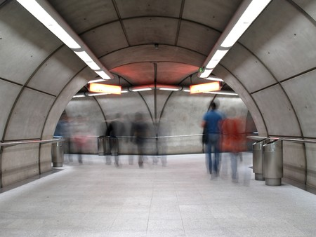 Subway station in Bilbao, Basque Country, Spain
