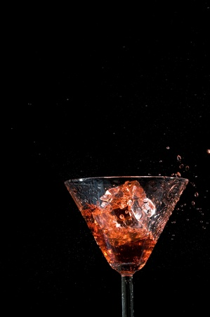 Glass of cocktail isolsted on white background