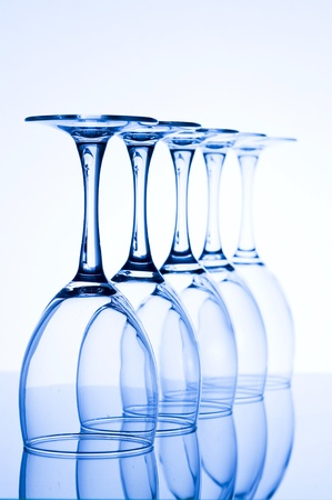 WineGlass on the creative Background