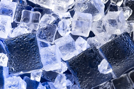 Background with blue ice. Creative coold abstract
