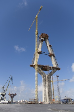 construction of the bridge piers La Pepa that will be of the highest in Europe