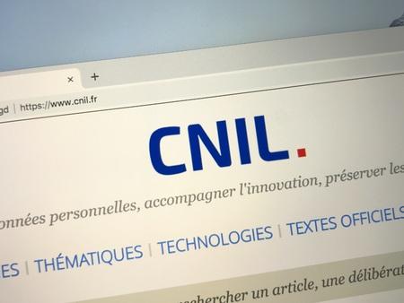 Amsterdam, Netherlands - October 3, 2018: France website or The National Commission on Informatics and Liberty (France: Commission national de l'informatique et des libert s or CNIL).