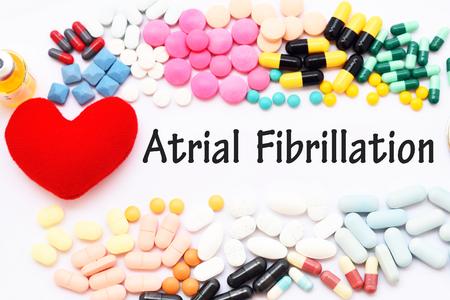 Photo pour Drugs for atrial fibrillation disease treatment - image libre de droit