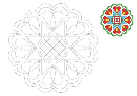 The Moravia ornament _coloring_9