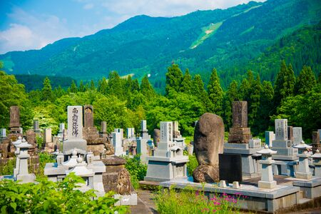 Photo for cemetery  in Tateyama-machi, Japan. Japan is a country located in the East Asia. - Royalty Free Image