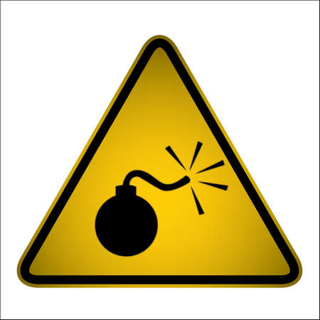 hazard signs for your design, website