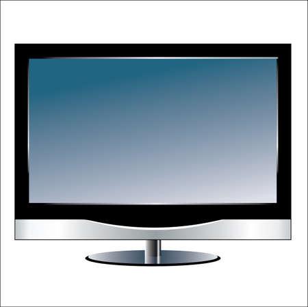 Illustration pour lcd tv monitor - image libre de droit