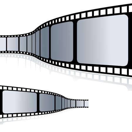 Illustration for Movie Film clip art - Royalty Free Image