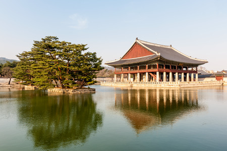 Gyeongbokgung Palace grounds in Seoul, South Korea