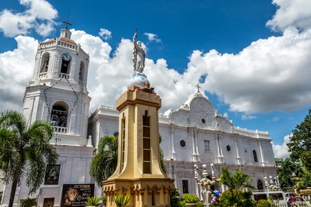 Cebu Metropolitan Cathedral under the blue sky and white cloud.
